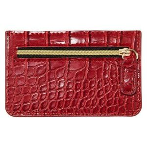 B-Low the Belt Red Croc Card Case